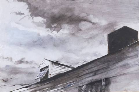 andrew wyeth dormer window cushing maine 1949 artnet